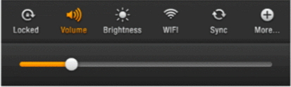Adjust brightness volume