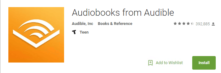 install audible apps for android