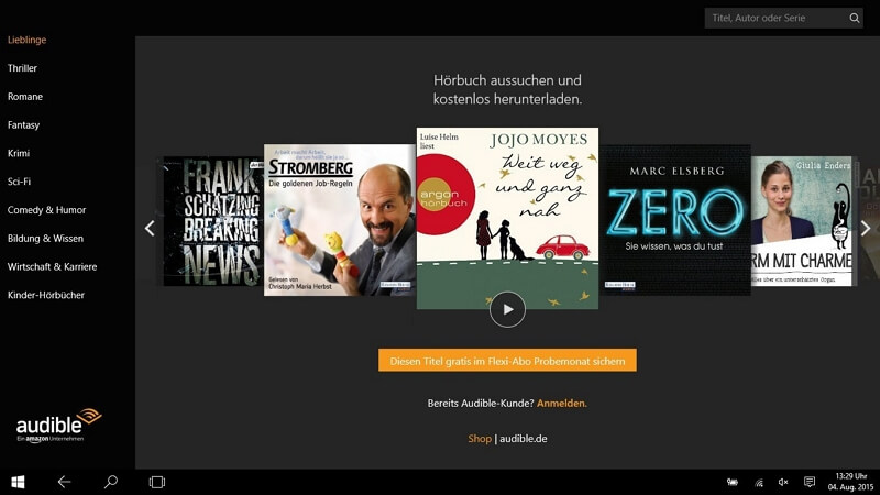 audible windows 10