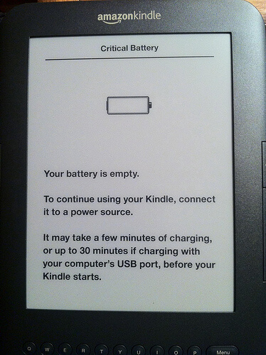 Kindle Critical Battery Error