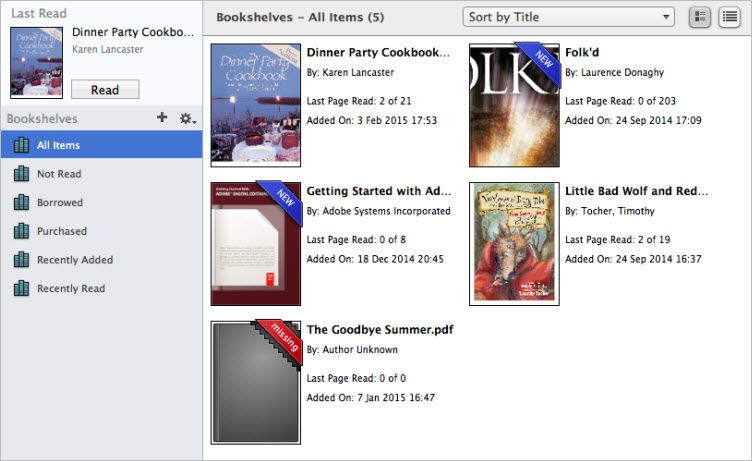sync and download PDF and EPUB books with ADE