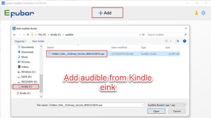aggiungi audiolibri al convertitore udibile