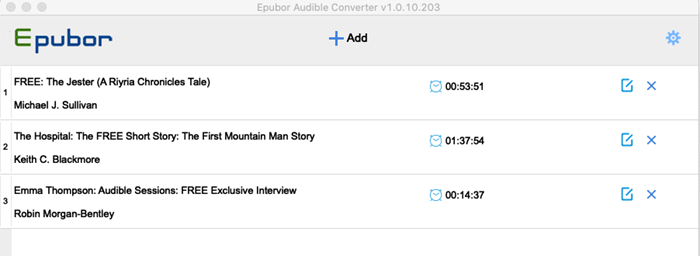 add audible books to audible converter