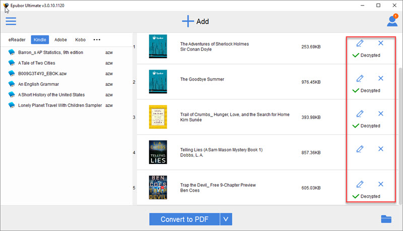 add AZW3 books synced through Kindle for PC