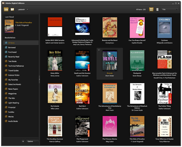 adobe digital edition ebook manager