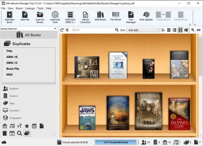 alfa ebook manager