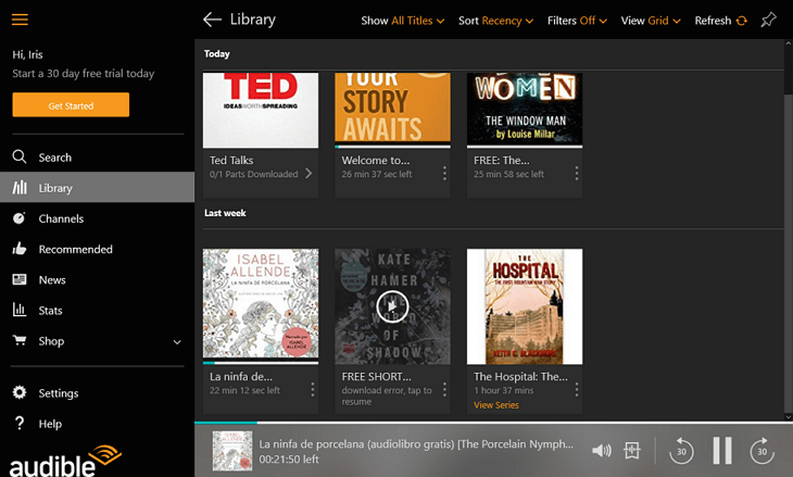 Audible apps