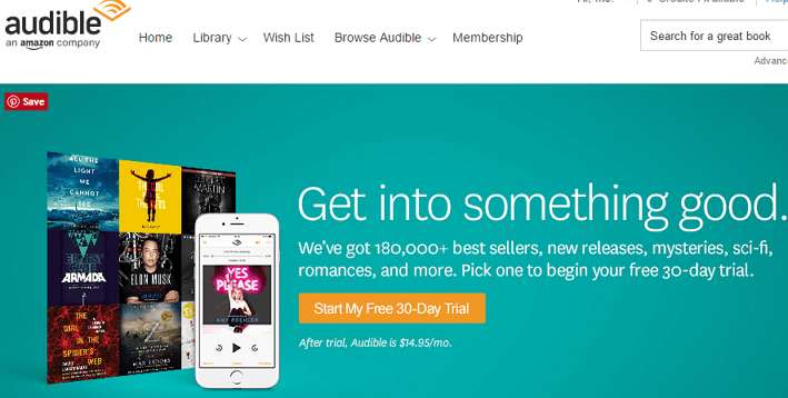 Audible subscription service