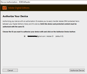 authorize device with ade2