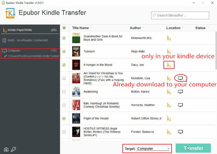 back up kindle to computer with kindle transfer