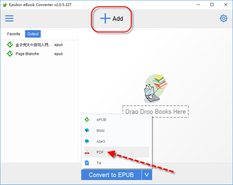 convert ibook epub to pdf
