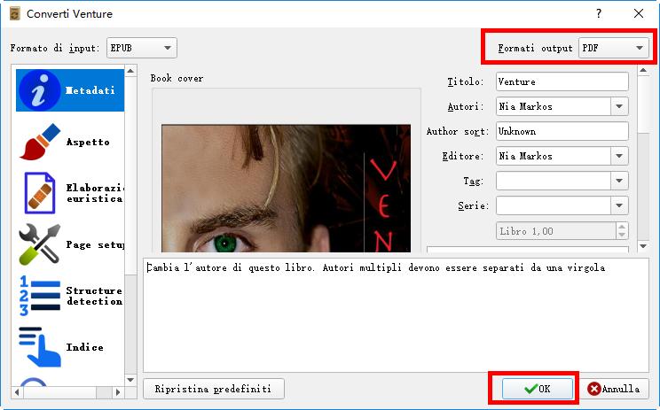 Convertire Adobe Digital Editions in PDF Calibre