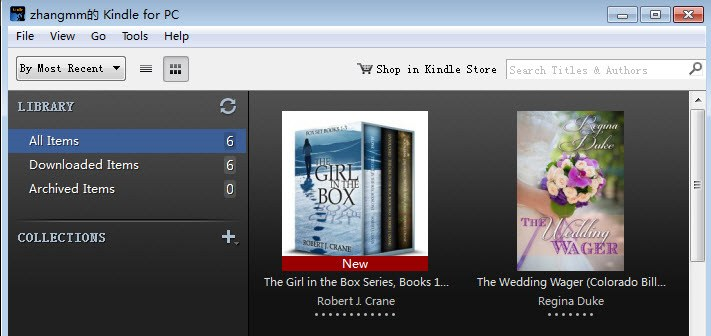 ebooks synchronized to kindle for PC