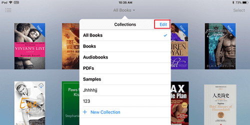 edit ibooks collections