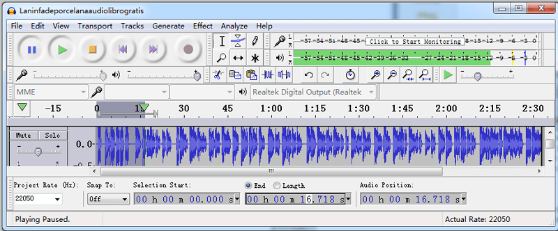 Edit Start and End Timing with Audacity