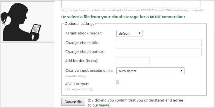 epub2mobi with online-convert