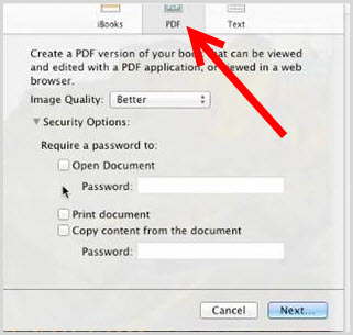 export ibook to pdf