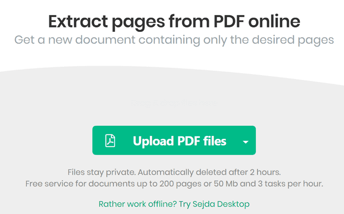 extract pages from pdf online