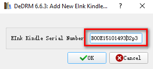 fill in kindle serial no.