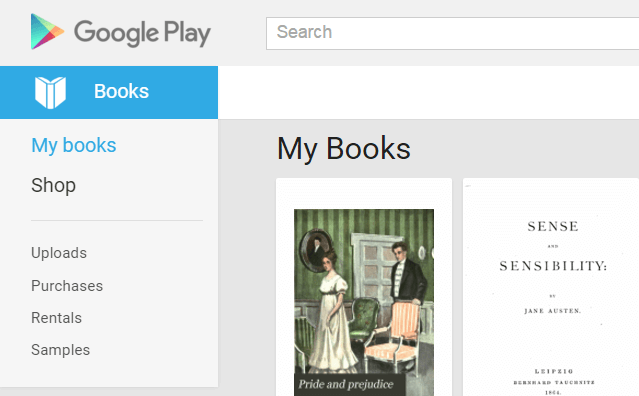 Google Play My Books