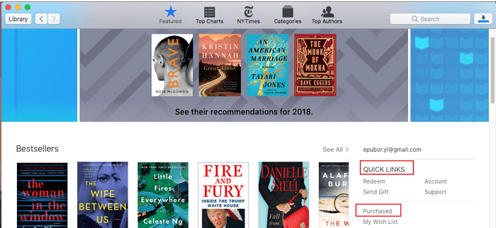 purchased ibooks