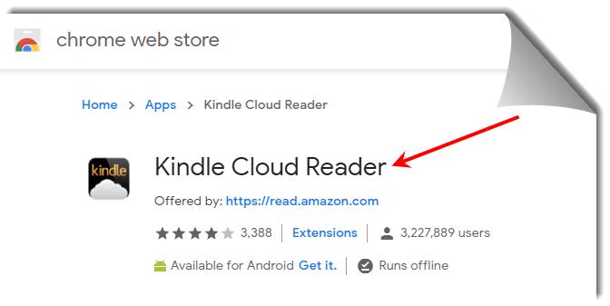 kindle cloud reader chrome extension