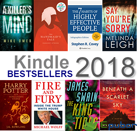 kindle best sellers of 2018