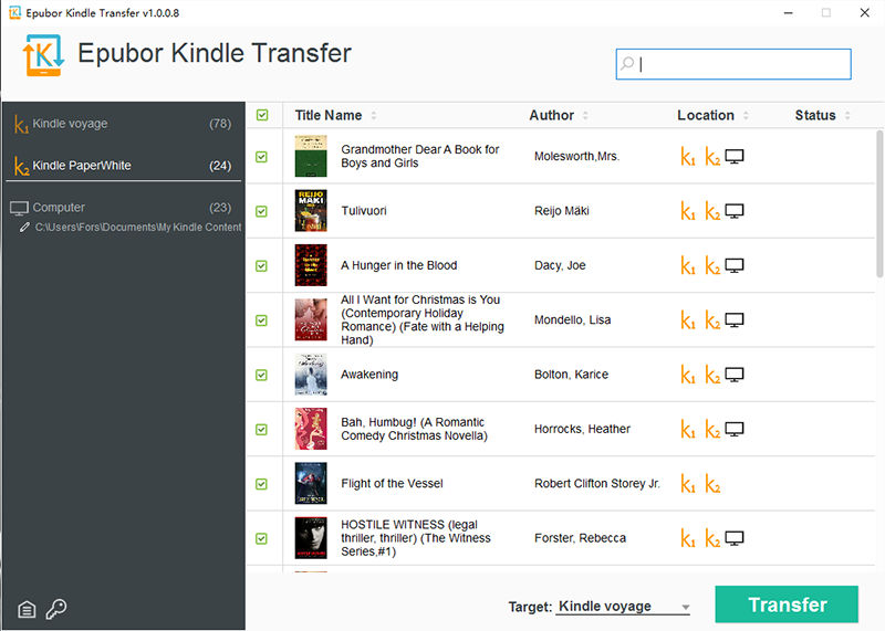 transfer kindle to another kindle