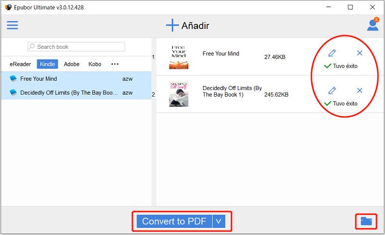archivos kinle a epub pdf