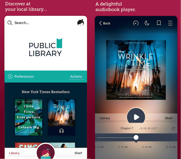 listen to overdrive audiobooks on android/iphone
