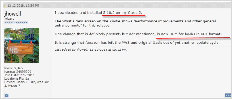 kindle firmware drm remove failed