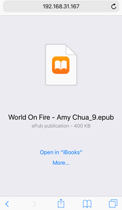 open epub with ibooks