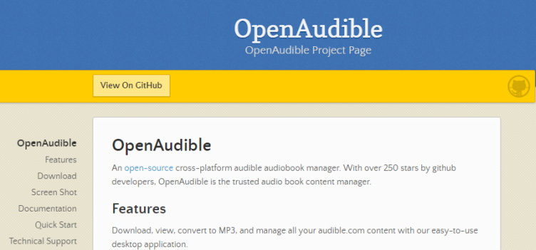 OpenAudible audiobook manager