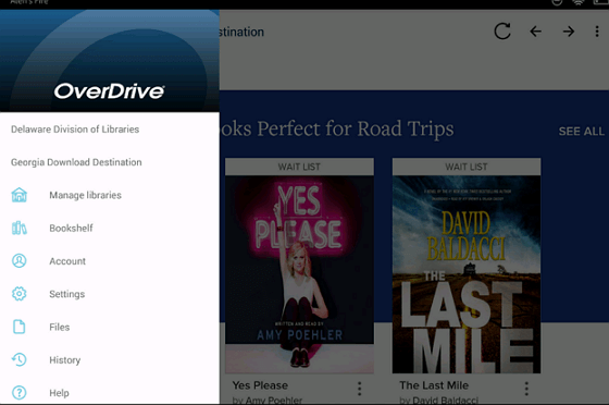 listen to audiobooks via overdrive
