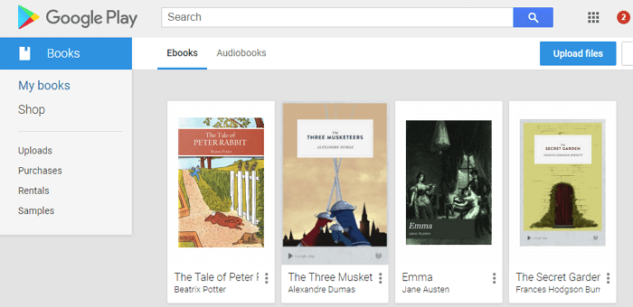 purchased google play books