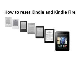 Reset Kindle and Kindle Fire