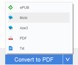 select an output format for AZW3 books