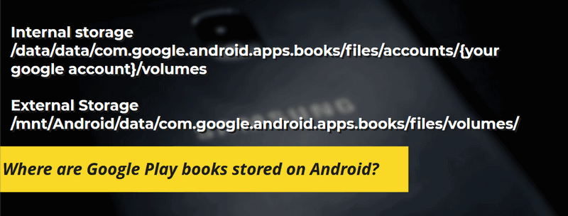 where are google play book stored android